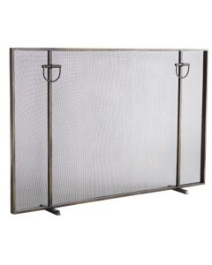Arteriors Bronze Brooklyn Fireplace Screen With Horse Bridle Accents
