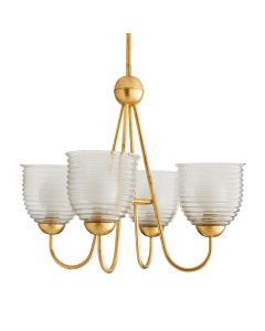 Arteriors Warrington Classic Chandelier with Clear Seedy Glass Shades
