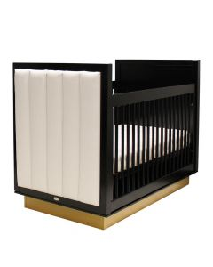 Art Deco Luxe Modern Upholstered Crib - Available in a Variety of Finishes