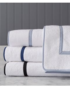 Avon Roma Terry Single Line and Edge With Tape Trim Bath Towels - Available in a Variety of Trim Colors and Sizes