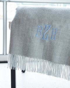 Baby Alpaca Throw with Fringe - Available in a Variety of Colors - Can Be Personalized