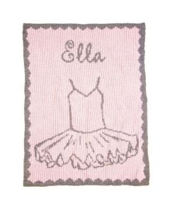 Personalized Ballerina Blanket - Variety of Colors Available