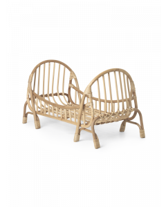 Bamboo and Rattan Doll Bed Frame for Kids