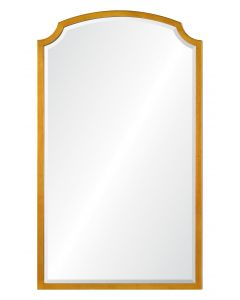 Barclay Butera Long Antiqued Gold Leaf Iron Wall Mirror