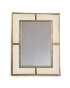 Sandstone Wall Mirror With Gold Leaf Frame - ON BACKORDER UNTIL MAY 2021