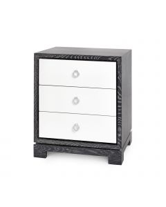 Bungalow 5 Berkeley 3-Drawer Side Table in Gray Finish