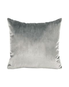 Velour Pillow in Light Grey - Available in Three Sizes