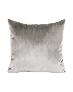 Velour Pillow in Grey - Available in Three Sizes