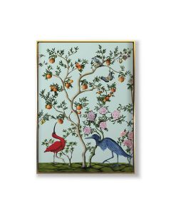 Bird and Branch Chinoiserie 1 Framed Wall Art