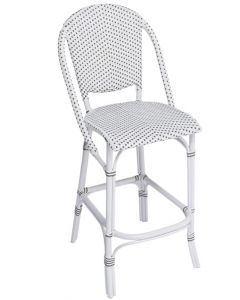 Outdoor Aluminum Framed Woven Bistro Style Bar Stool
