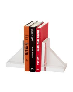 Frosted Crystal Bookends Set of 2