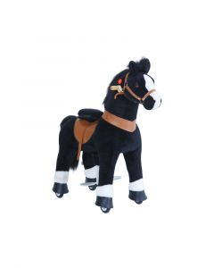 Black and White Small Horse Ride On Pony Toy For Kids
