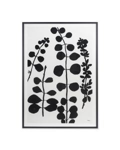 Black and Grey Botanical Vine 1 Wall Art - Available in 2 Sizes