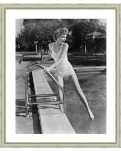 Black and White Beach Beauties Framed Wall Art II-Available in a Variety of Sizes
