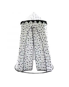 Black and White Star Pop Up Playhouse Toy for Kids