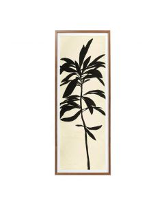 Black Stems 1 Framed Panel Wall Art - Available in 2 Sizes