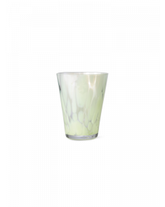 Blown Glass Fog Green Spotted Tumbler
