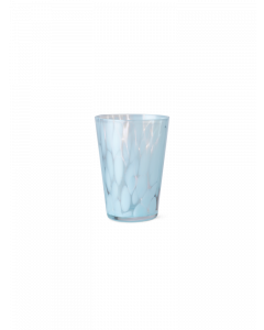 Blown Glass Pale Blue Spotted Tumbler