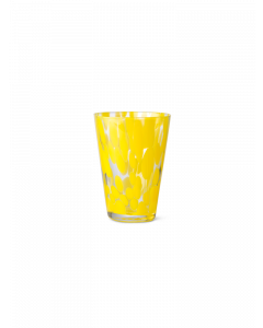 Blown Glass Yellow Spotted Tumbler