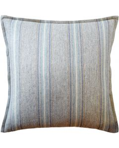 Blue and Green Stripe Decorative Throw Pillow
