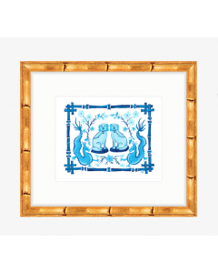 Blue and White Staffordshire With Dragon Art Print