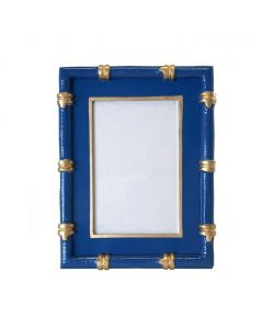 Blue and Gold Bamboo Picture Frame