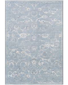 Blue and Gray Floral Design Area Rug  Available in a Variety of Sizes