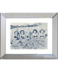 Blue and Sepia Beach Beauties III Framed Wall Art-Available in a Variety of Sizes