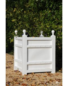 Box d'Orangerie Outdoor Garden Planter in Aluminum with Finials – Available in a Variety of Sizes and Can be Customized