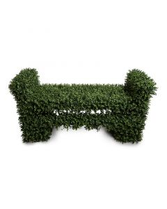 Boxwood Faux Leaf Covered Garden Bench