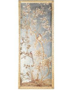 Silverleaf and Gold Chinoiserie Wall Panel 2