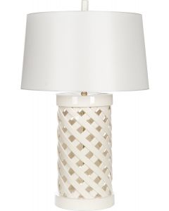 Summer Trellis Table Lamp With Shade