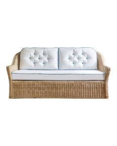Braided Chatham 2 Seat Wicker Sofa - Available in Variety of Finishes