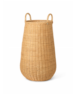 Braided Rattan Laundry Hamper With Two Handles