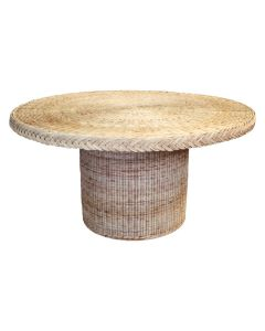 Braided Round Wicker Dining Table - Available in Variety of Finishes ON BACKORDER UNTIL SEPTEMBER 2021