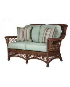 Braided Wicker Love Seat  – Available in a Variety of Finishes