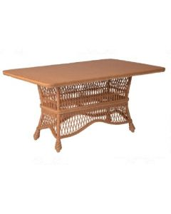 Braided Wicker Rectangular Dining Table – Available in a Variety of Finishes