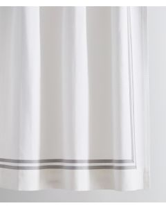 Brendon Double Tape Trim Shower Curtain - Available in a Variety of Trim Colors and Sizes