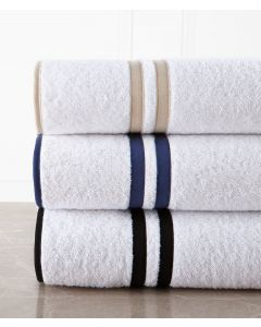 Brendon Roma Terry Double Lined and Edged With Tape Trim Bath Towels - Available in a Variety of Trim Colors and Sizes