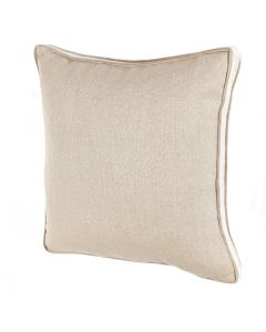 Brinson Taupe Decorative Throw Pillow with Linen Gusset