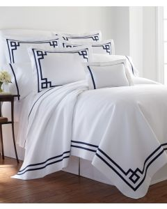 Bristol Fretwork Tape Applique Duvet- Available in a Variety of Trim Colors and Sizes