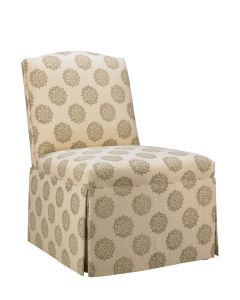 Brooke Armless Upholstered Chair with Skirt