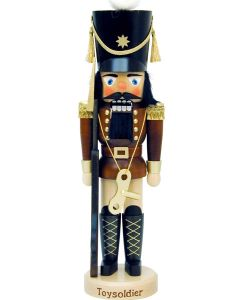 Brown Toy Soldier Traditional German Nutcracker Christmas Decoration