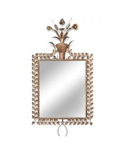 Bunny Williams Gilded Jardin Mirror with Leaf Detail