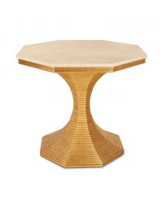 Bunny Williams Hourglass Side Table in Gold - ON BACKORDER UNTIL EARLY NOVEMBER 2021