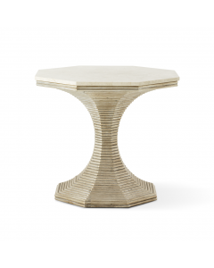 Bunny Williams Hourglass Side Table in Silver - ON BACKORDER UNTIL EARLY NOVEMBER 2021