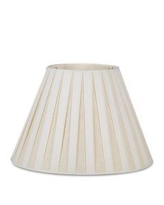 Bunny Williams White Box Pleat Linen Lampshade, Available in Two Sizes