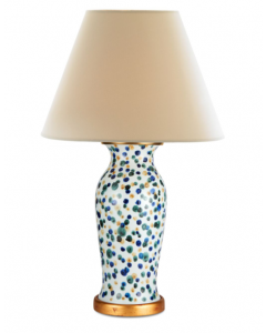Bunny Williams Ceramic Dots Lamp with Gold Base