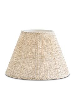 Bunny Williams Beige & White Daisy Lampshade, Available in Two Sizes