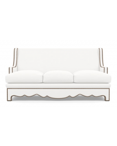 Bunny Williams Upholstered Scalloped Nailhead Sofa - Available in a Variety of Finishes & Fabrics